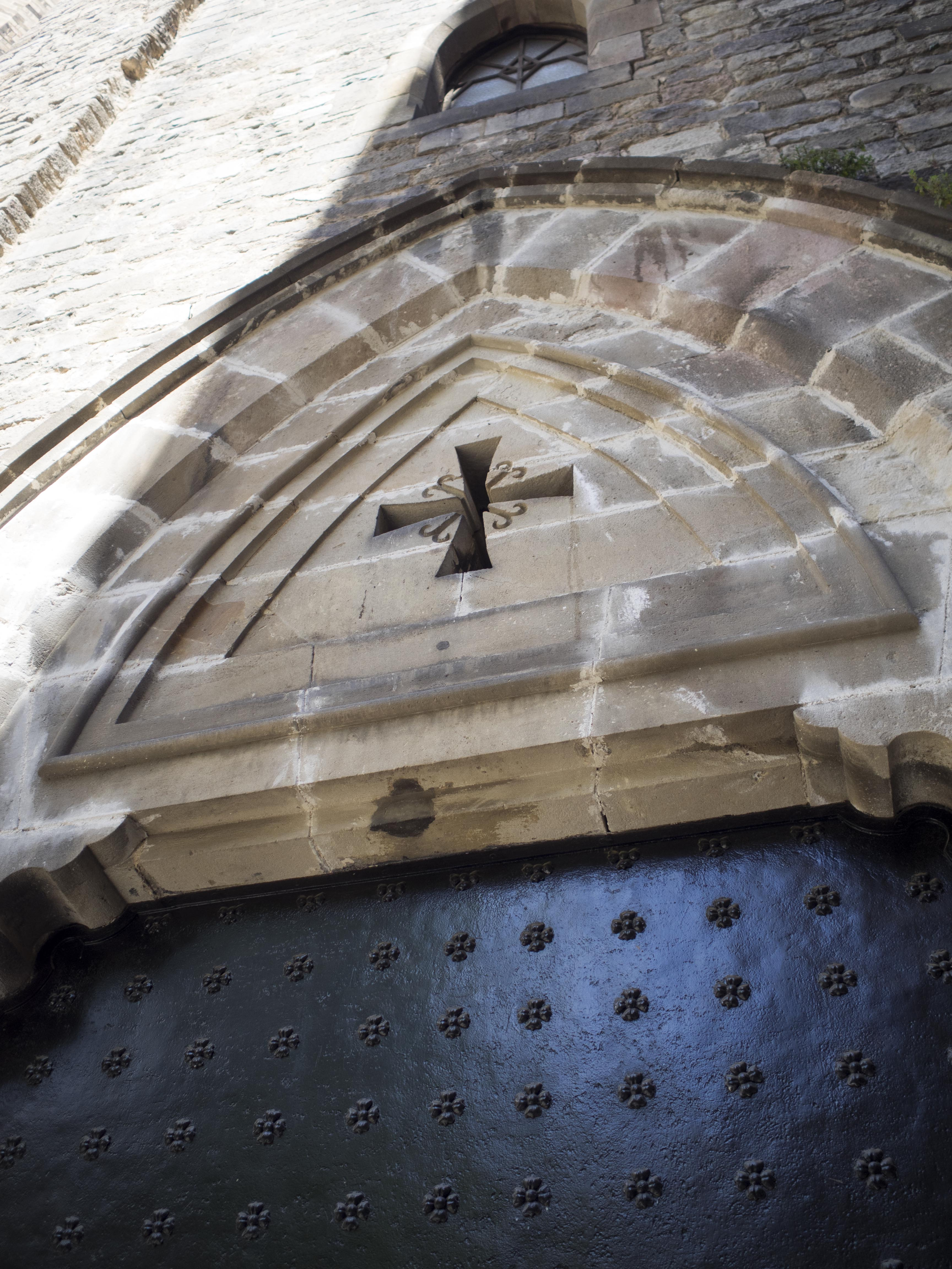 Classic and simple above a church door