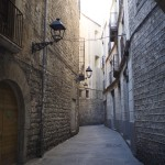 A momentarily quiet walkway in the Barri Gòtic